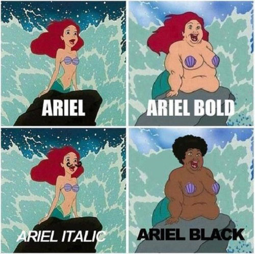 Choose Font Wisely