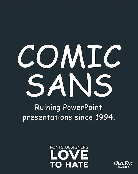 Its High Time We Should Stop Using Comic Sans