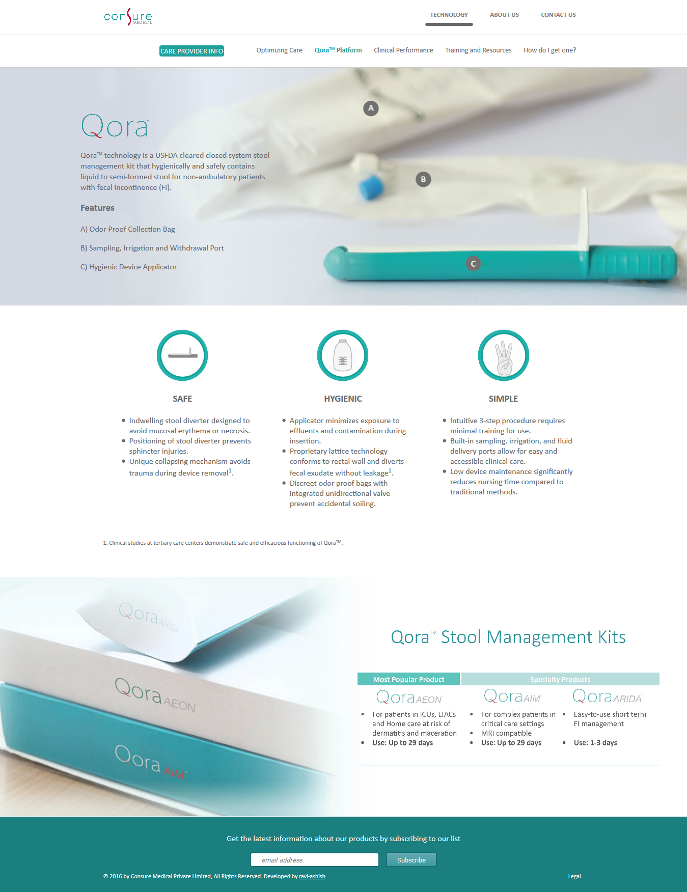 Consure Medical Website Design